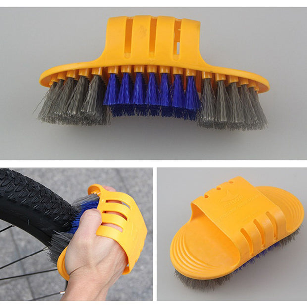 6pcs/set Bicycle Chain Cleaner Cycling Tire Brushes Portable Mountain Road Bike Cleaning Tool Set Bicycle Cleaning Gloves