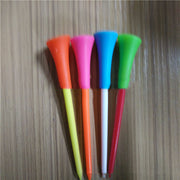 83mm 50 Pcs/Bag Multi Color Plastic Golf Tees Golf Accessories Durable Rubber Cushion Top Golf Tees Golf Ball Tee Holder Sports