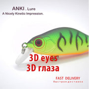ANKI 8.5g 70mm Japan Wobblers Fishing Lure Crank Bait Trough Spoon Long Cast Pike China Pesca Isca Artificial Accessories Lures
