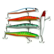 ANZHENJI Hot 5 Pieces 12CM/10G Minnow Fishing Lure Kit Artificial Hard Bait Plastic Peche Wobbler Fish Tackle Fish Accessories