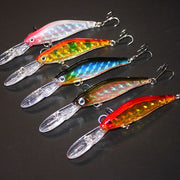 AZJ Brand 5 Pieces/lot Minnow Fishing Lure 9.5cm /7g Plastic Bait Within The Laser Peche