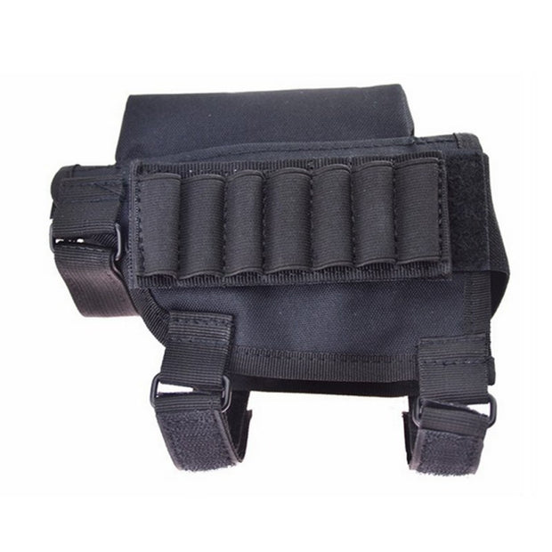 Adjustable Bullet Pouches Tactical Butt Stock Rifle Cheek Rest Pouch Portable Bullet Bag