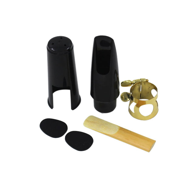 Alto Sax Saxophone Mouthpiece Plastic With Cap Metal Buckle Reed Mouthpiece Patches Pads Cushions