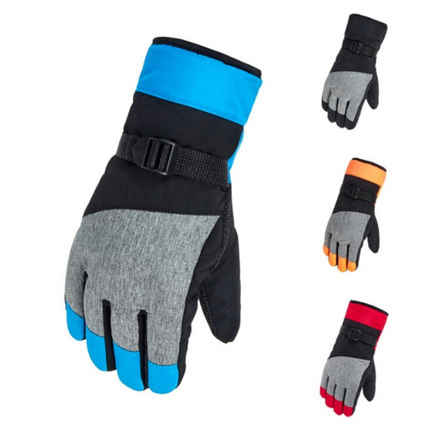 Aolikes Women Men Ski Gloves Snowboard Gloves Snowmobile Motorcycle Riding Winter Gloves Windproof Waterproof Unisex Snow Gloves