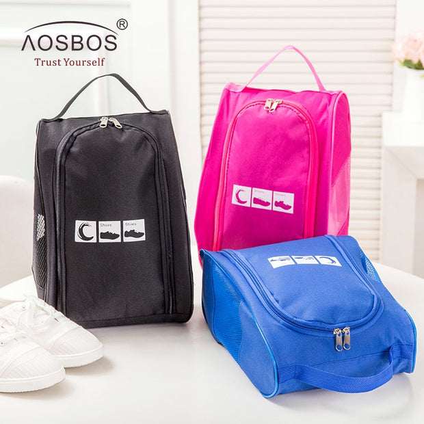 Aosbos Women Men Oxford Shoes Bag Waterproof Lightweight Gym Sports Bag Travel Training Fitness Bag Shoes Zipper Storage Pouch