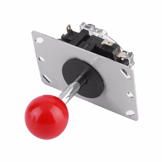 Arcade Joystick Game DIY Joystick Ball Handle Joy Stick Red Ball Replacement Fighting Stick Parts Machine Switchable Ball
