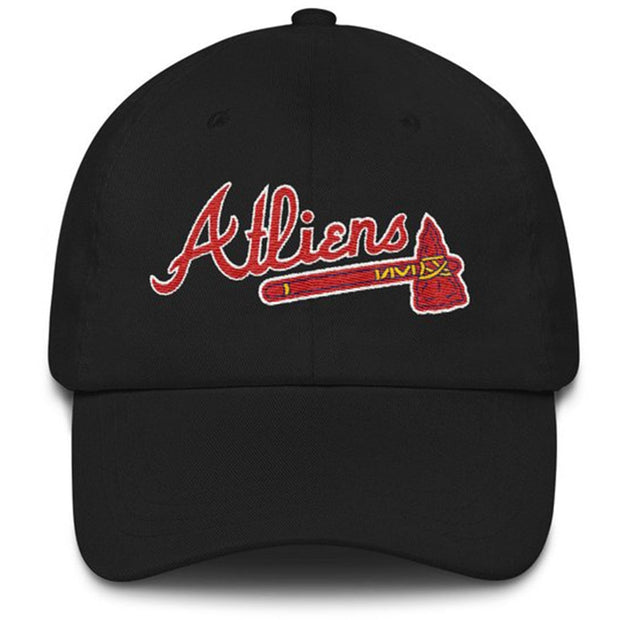 Atliens - Atlanta Braves Embroidery Baseball Cap 100% Cotton Adjustable Fashion Dad Hat Hip Hop Cap Casual Caps Golf Hat