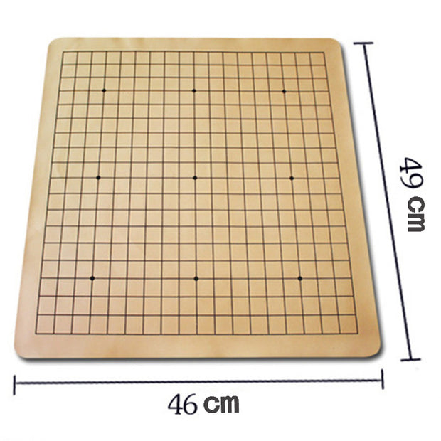BSTFAMLY Go Chess 19 Road Chessboard 49*46*0.1cm PU And Plush Checkboard Old Game Of Go Weiqi Board For 2.2cm Piece/Checker GB08