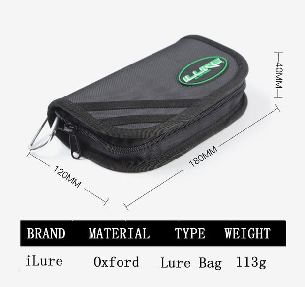 BaMMax Fishing Lure Bag 18cm*12cm*4cm Hard Lure Waterproof Paillette Bag Fishing Tackle Bag Portable Large Capacity Tool Pesca