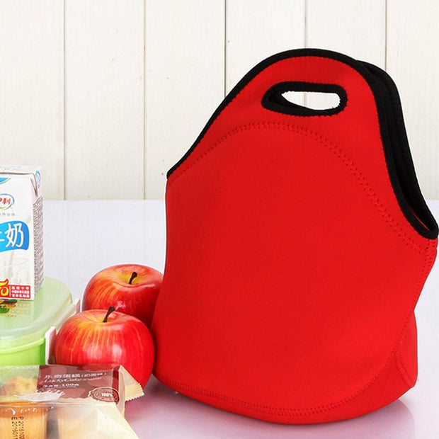 Bag Black Tote Lunch Insulation Zipper Material Submersible Red New Unisex Solid Closure