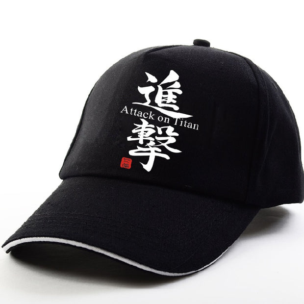 Baseball Cap K-pop Attack On Titan Casual Snapback Hat Adjustable Black Cap 2019 New Fashion Hip Hop High Quality Man Sport Hat