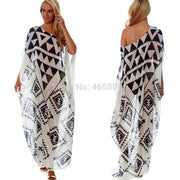 Beach Dress Kaftan Pareo Sarongs Sexy Cover-Up Chiffon Bikini Swimwear Tunic Swimsuit Bathing Suit Cover Ups Robe De Plage