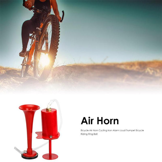 Bicycle Air Horn Cycling Iron Alarm Loud Trumpet Bicycle Ring Riding Bell MTB Road Bicycle Accessories