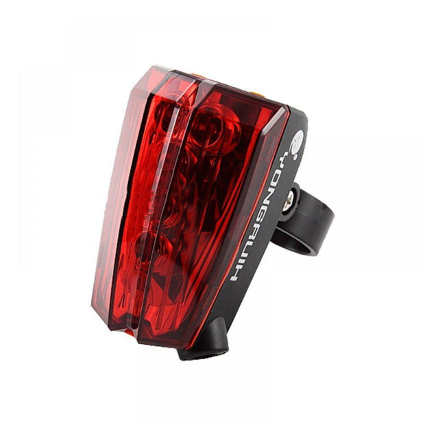Bicycle Laser Light Rear Taillight LED Parallel Line Lights Night Safety Warning Light Mountain Bike Decorative Tail Light
