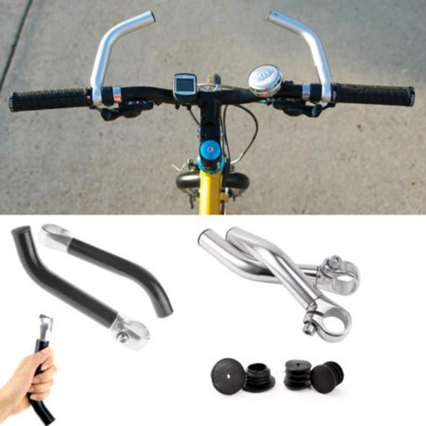 Bicycle Rest Handlebar Extender Aluminum Alloy Ultralight Handle Bar Ends Fit Mountain Bike 22.2mm Handlebars Cycling Parts