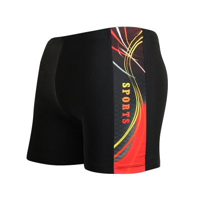 Big Size Men Swimwear Swimming Trunks Summer Men's Low Waist Swimsuit Boxer Briefs Beach Shorts Patchwork Bathing Suit