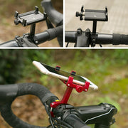 Bike Aluminum Alloy Racks Holder 360 Rotatable Adjustable Universal Navigation Frame Road Bike Bicycle Phone Holder