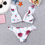 Bikini 2019 Sexy Women Floral Print Bikini Set Swimming Two Piece Swimsuits Swimwear Beach Suit High Waist Swimsuits