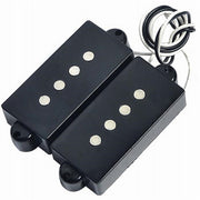 Black 4 String Pickup Set Noiseless For Precision Bridge P Bass Pickup Set