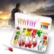 Bobing 100pcs Fishing Lure Set Multifunctional Mixed Artificial Lures Set Softbaits With Box Jig Head Fishing Accessories Pesca