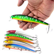 Bobing 5pcs 13cm 19g Hard Bait Minnow Fishing Lure Lifelike Sea Freshwater Wobblers Casting Spinning Floater Fishing Lure Tackle