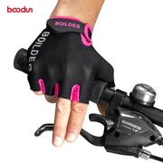 Boodun Cycling Gloves Half Finger Men Bike Fitness Gloves B Cycle Muscle Training Sport Workout Crossfit Gloves Women 4