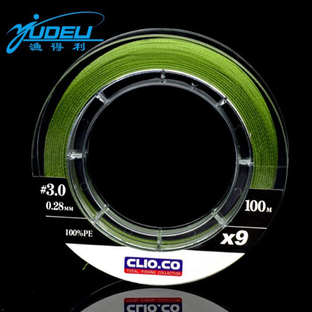 Braided Fishing Line 24.25lb To 136.68lb Green Multifilament PE 9 Strands Fishing Line Freshwater Saltwater Fishing Wedkarstwo