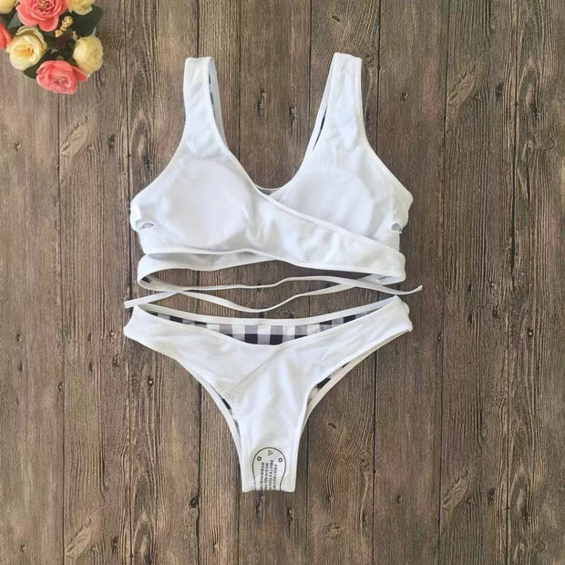 Brazilian Bikini Mujer Women Girls Beach Bikini Push Up Summer 2019 Floral Bikinis High Waist Hot Swimsuits Stroje K Pielowe 201
