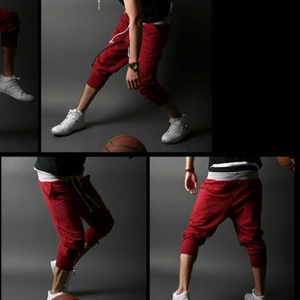 CALOFE 2019 Men Sport Pants Hip Hop Runnning Pants Male Joggers Cropped Trousers Mens Trousers Solid Drawstring Sweatpants 3XL