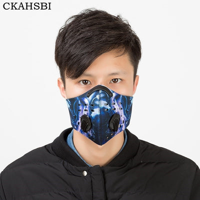 CKAHSBI Outdoor Anti-dust Cycling Face Mask Anti-pollution Air Filter Breathable Bike Bicycle Riding Hiking Face Masks Men Women
