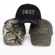 Camo Snapback Baseball Cap Men SWAT Tactical Army Combat Camouflage Hat Male Casual Trucker Cap Outdoor Camping Hunt Sun Hat