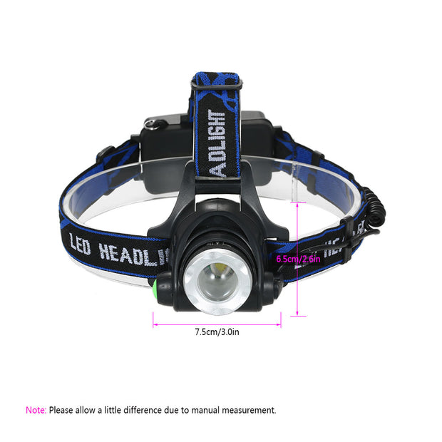 Camping Cycling Light Super Bright Headlight LED Light Lamp Safety Flashlight Rechargeable Head Lamp Running Reading Light