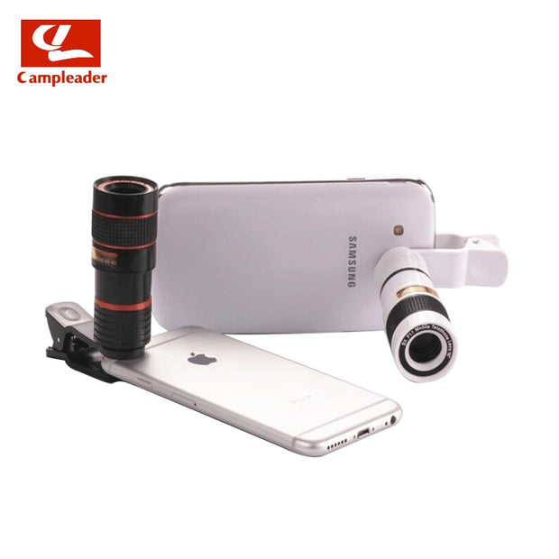 Campleader 8x18 Mobile Telescope HD Camera External Telephoto Phone Lens Mini Portable Monocular CL176
