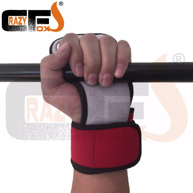 Carzy Foxs Weigh Lifting Glove/3 Hole WOD Grip / Pull Up Glove / Leather Gym Grips For Cross Fit