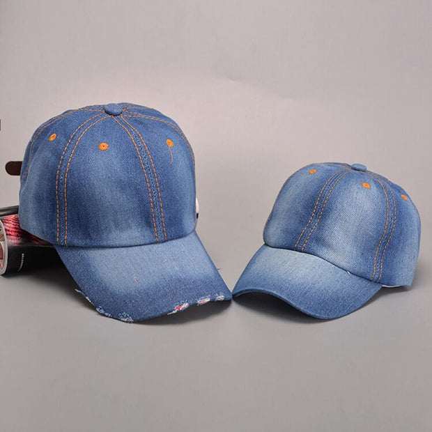 Child High Quality Snapback Denim Cappello Baseball Cap For Boys Girls Solid Family Cowboy Sun Hats Bone Gorras Planas Hip Hop