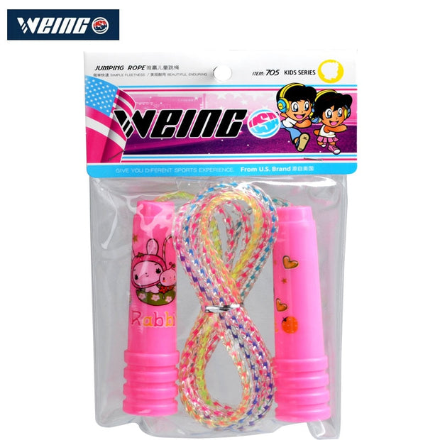 Children Skipping WEING WR705 Sports Cross Matching Plastic Material Antiskid Plastic Speed Skipping Packaging