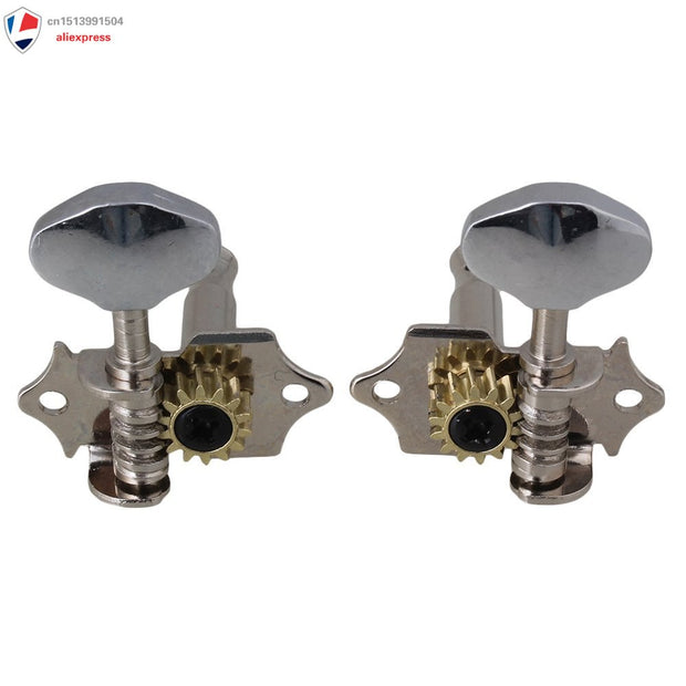 Chrome Tuning Pegs Machine Heads 2R2L For Ukulele 4 String Guitar Bass
