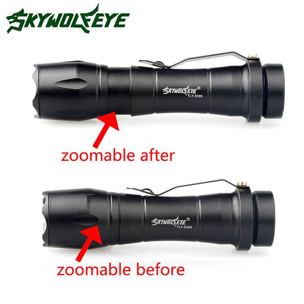 Cycling Bicycle Bike Front Hand Light Zoom Q5 2000LM Mini LED Flashlight Focus Torch Lamp+14500 Battery+Charger Wholesale M20