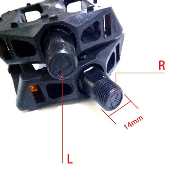 Cycling Bold Shaft Mountain Bike Pedal Bicycle Plastic Pedal LR Whole Pair Of Durable Outdoor Riding Pedals