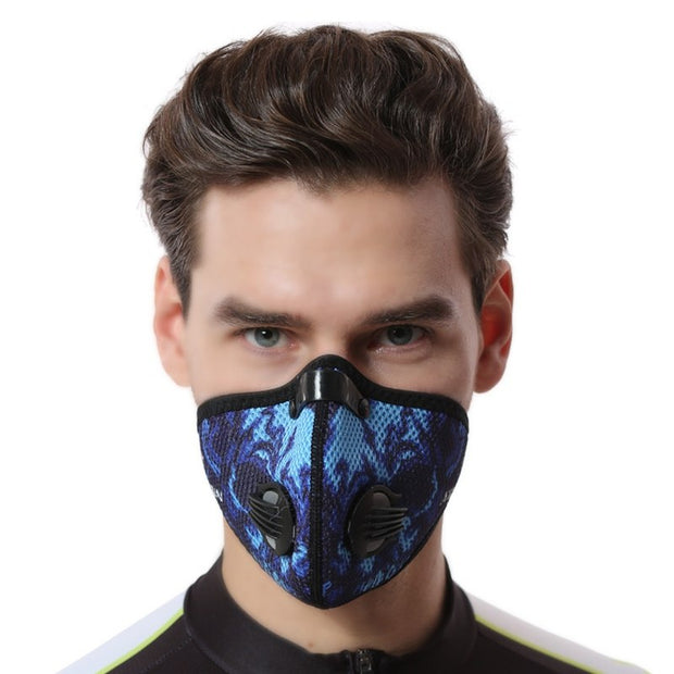 Cycling Face Mask Activated Carbon Training Sport Face Mask Dust-proof With Filter Macka Bike Cycling Anti-dust Windproof
