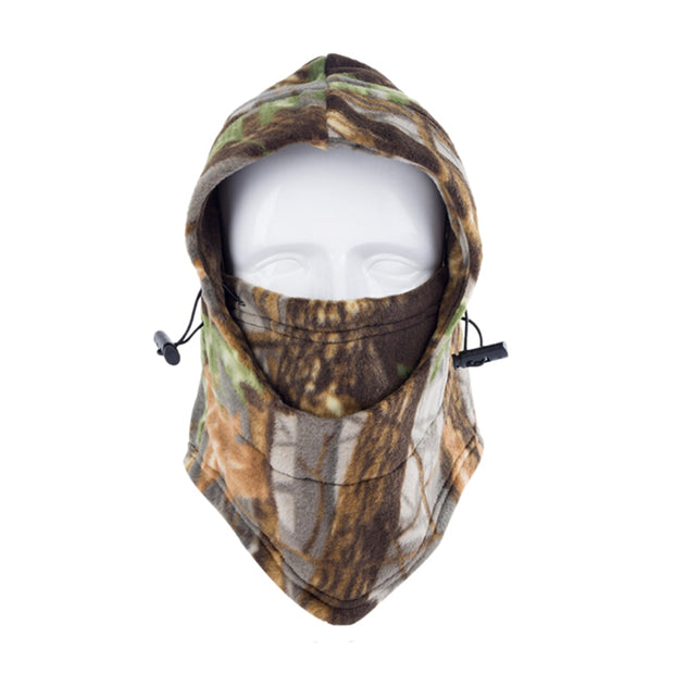 Cycling Masked Hat Bicycle Equipment Outdoor Sports Thermal Head Mask Camouflage Fleece Bicycle Face Mask Cold-Proof Windproof