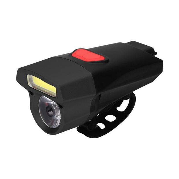 Cycling USB Rechargeable Bike Light Double Lamp Head Light Bicycle LED+COB I300206