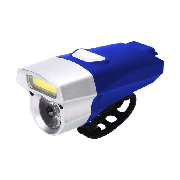 Cycling USB Rechargeable Bike Light Double Lamp Head Light Bicycle LED+COB USB Charging 18650Battery Waterproof A70