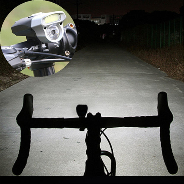 Cycling USB Rechargeable Bike Light Double Lamp Head Light Bicycle LED+COB Bicycle Light Lantern For A Bicycle Wholesale 30