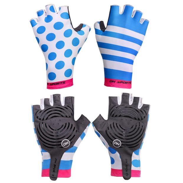 DH SPORTS Cycling Gloves Half Finger Bike Gloves Shockproof Breathable Mountain Bicycle Glove Men Individuality Cycling Clothing