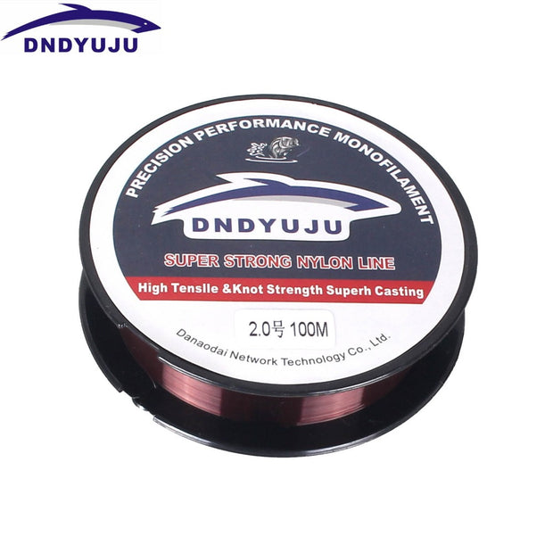 DNDYUJU 4Pcs 100M 2Color Fishing Line Super Strong Japan 100% High Quality Nylon Transparent Fishing Line Not Fluorocarbon Line