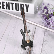 Desktop Electric Guitar Model Exquisite Musical Instrument Decoration Ornaments Musical Gift With Delicate Box