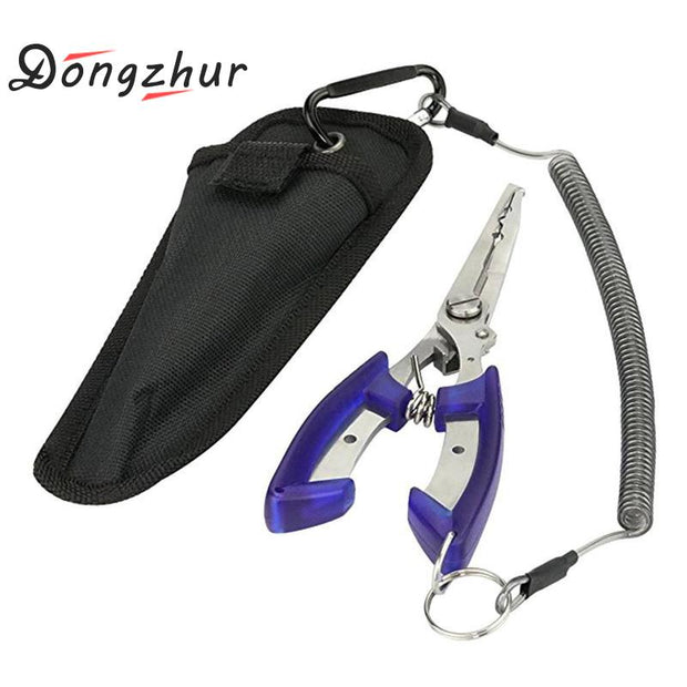 Dongzhur Fishing Pliers Fish Line Cutter Scissors Small Fish Hook Remover Tools Blue Beak Fishing Tackle Tool With Nylon Bag