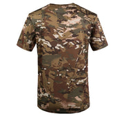 ELOS-New Outdoor Hunting Camouflage T-shirt Men Breathable Army Combat T Shirt Military Dry Sport Camo Camp Tees-CP Green 3XL