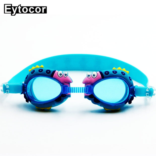 EYCOTOR Anti-fog Anti-ultraviolet Kids Swimming Goggles Swimming Glasses Children Different Strength Each Eye With Free Ear Plug